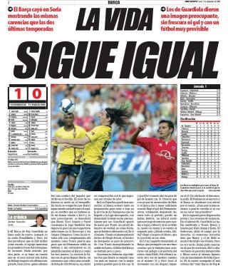 El Mundo Deportivo 1-9-08: LA VIDA SIGUE IGUAL